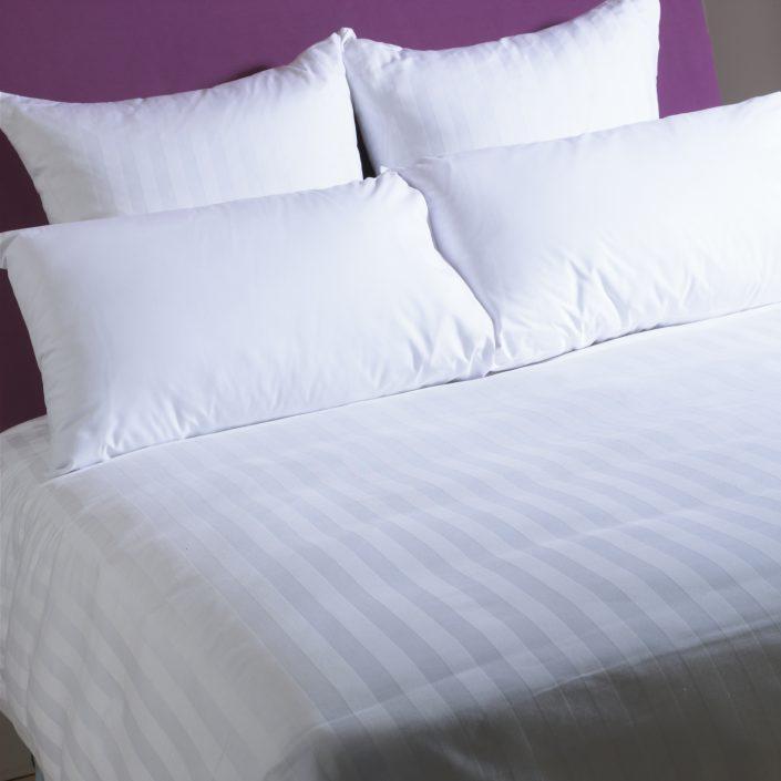 Satin stripe pillows for hotel